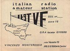 CARTOLINA DI RADIOAMATORE - ITALIAN RADIO AMATEUR STATION CARINI PALERMO C10-440