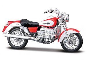 HONDA-F6C-ROSSO-BIANCO-Modellino-Moto-Maisto-1-18-MODELLO-PRESSOFUSO