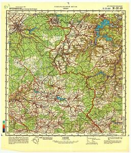 Belgium Topographic Map.Details About Russian Soviet Military Topographic Maps Eupen Belgium 1 100 000 Ed 1988