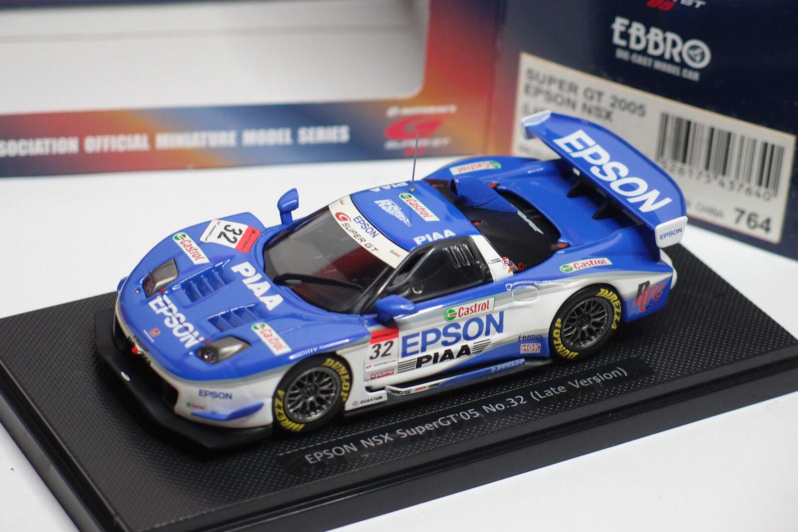 EBBRO SUPER GT 2005    EPSON NSX LATE VERSION  32 REF 764 1 43 7f5996