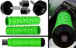 SEADOO-BOMBARDIER-WATERCRAFT-3D-GTI-GTS-GTX-SP-XP-GREEN-GRIPS-BLACK-BAR-ENDS