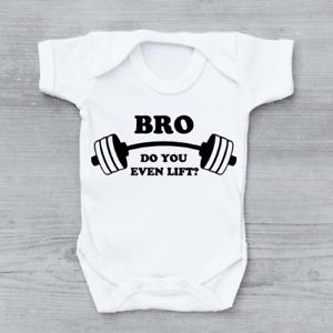 BRO-vous même Lift Drôle Gym Poids Blague unisexe bébé grandir Body