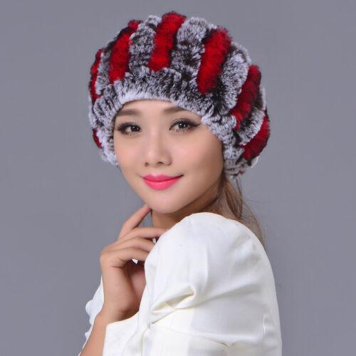 Kaninchen Pelz Hut Hals wärmer Schal Haar Accessoires Stirnband Pelzmütze