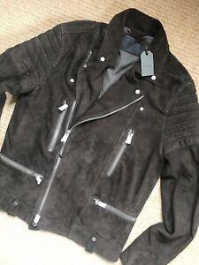 Khaki Coat New Brown Saints Suede Tags Jacket All Biker L