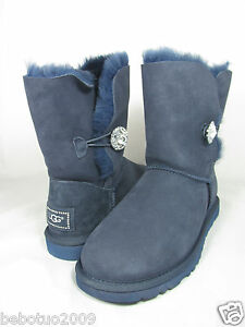 e843244a58a NEW WOMEN UGG AUSTRALIA BAILEY BUTTON BLING NAVY BLUE BOOT ORIGINAL ...