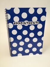 A4 Sized Blue Polka Dot 4 Column Appointment Book - Hairdressers, Beauticians...