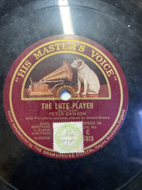 """PETER DAWSON - THE FLORAL DANCE/THE LUTE PLAYER 12"""" 78 RPM C.1313 E"""