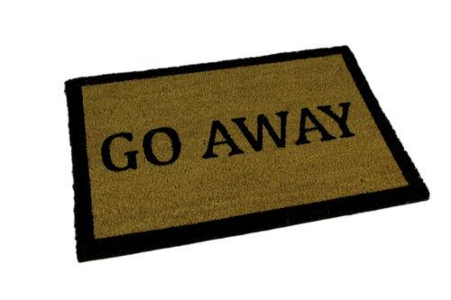 Go Away Natural Coir Indoor Outdoor Doormat 24 x 16 inch