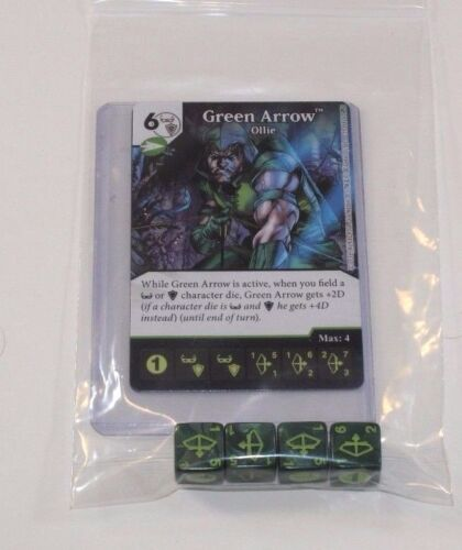 4 Dice GREEN ARROW CU Set UNCOMMON Common DC Dice Masters Green Arrow Flash