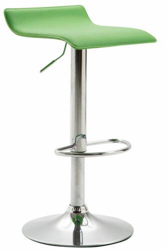 Tabouret de Bar DYNV2 Hauteur Réglable Pivotant Siège en Similicuir Repose-pied