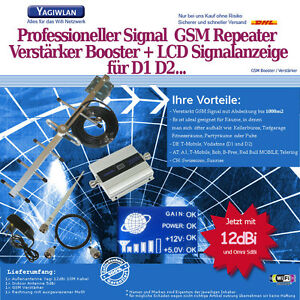 1500m2-GSM-900MHz-Repeater-Handy-Verstaerker-Booster-12dBi-Antenne-T-Mobile-D1-D2