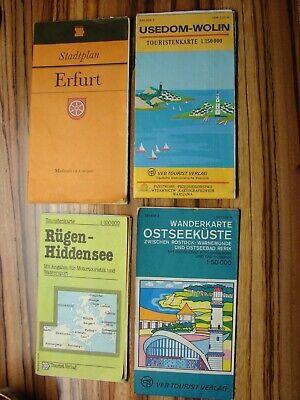 Angemessen 3 Landarten Ostsee (1x M.infos Motortouristik & Wassersport) + 1stadtplan Erfurt Starke Verpackung