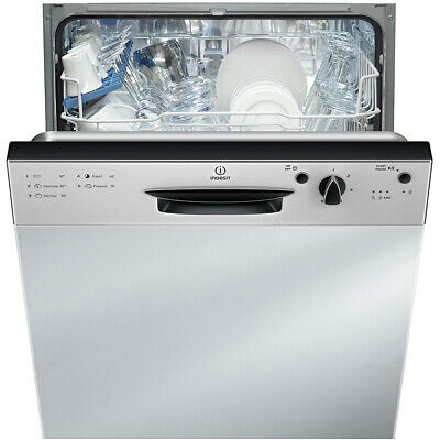 Indesit DPG15B1NX Eco Time A+ Semi Integrated Dishwasher Full Size 60cm 13