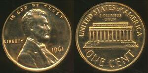 United-States-1961-One-Cent-Lincoln-Memorial-Proof