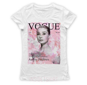 Maglietta audrey hepburn maglia donna cinema vogue cover flowers t image is loading shirt audrey hepburn shirt woman cinema vogue cover mightylinksfo