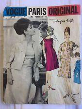 Vintage Vogue Paris Original Pattern 1232 Size 12 Jacques Griffe Dress W/ Jacket