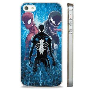 Dettagli su Spiderman VENOM MARVEL impressionante chiaro Telefono Custodia Cover si adatta iPhone 5 6 7 8 X- mostra il titolo originale