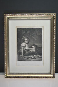 "Art Sartains Magazine ""the Brothers"" Engraving By J Sartain 5-1/4"" X 8"" Special Summer Sale"
