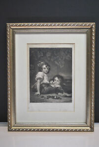 "Sartains Magazine ""the Brothers"" Engraving By J Art Sartain 5-1/4"" X 8"" Special Summer Sale"