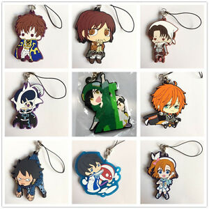 Japanese-Anime-Manga-Rubber-Key-Chain-Keychain-Official-Strap-Free-Shipping-New