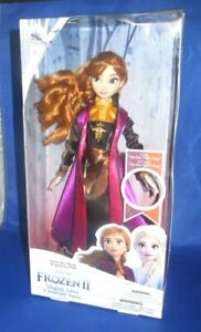 DISNEY STORE PRINCESS FROZEN 2 SINGING ANNA BARBIE DOLL COLLECTION , NEW