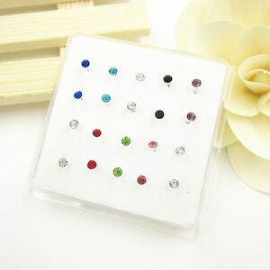 Wholesale-20-Pcs-Mixed-Color-Crystal-Bar-Bone-925-Solid-Silver-Nose-Stud-Rings