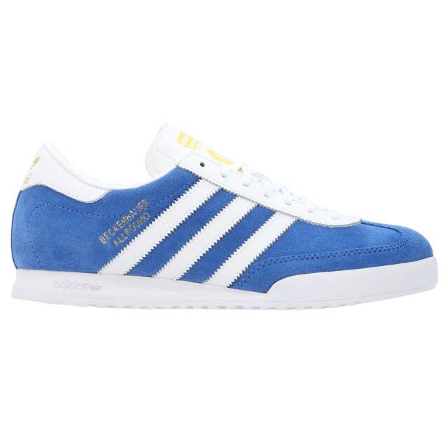 top fashion d1a01 ccfb8 Adidas Originales Beckenbauer Azul Hombre Zapatillas De Gamuza GB Sizes 7-12