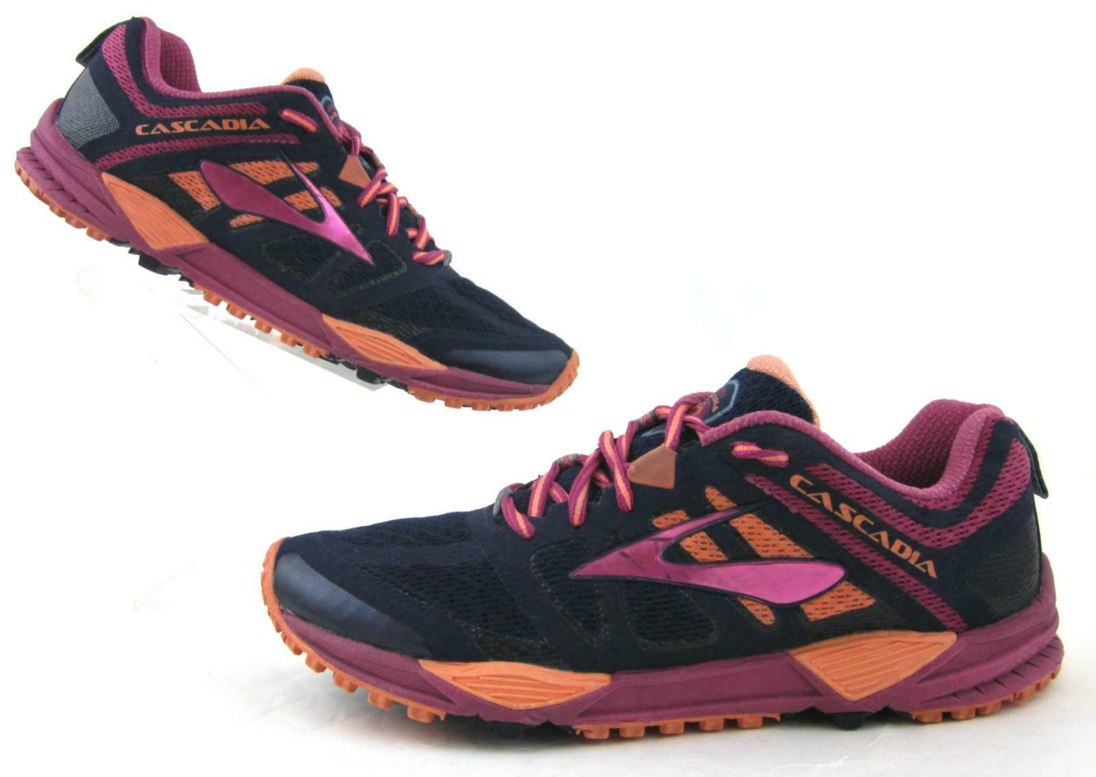 Brooks Cascadia 11 donna Trail Running scarpe Navy   Fuchsia   Coral US 10B