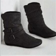 e80b0ba1298 Wet Seal Womens Fashion Ankle BOOTS Size 6 M Short Sparkle Black ...