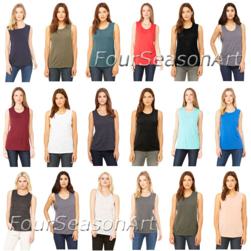 Bella Canvas Womens Flowy Muscle Tank Top Shirt S M L XL 2XL 8803-B8803