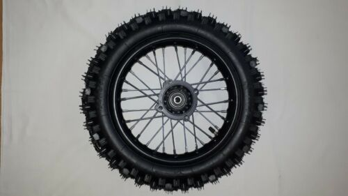 """Pneumatici Cerchio Ruota Completa 12 /"""" Posteriore Dirt Bike Asse ø12mm"""