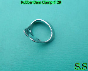 6 Endodontic Rubber Dam Clamp #29 Surgical Dental Instruments
