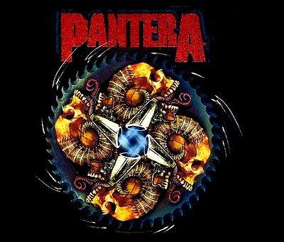 PANTERA cd lgo SKULL SAW BLADE Official SHIRT LAST LRG New oop