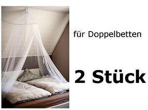 2 x baldachin xxl moskitonetz betthimmel doppelbett m ckenschutz m ckennetz wei ebay. Black Bedroom Furniture Sets. Home Design Ideas