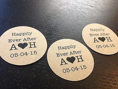 20 X Kraft Cerchio Wedding Favore Adesivo Etichette Personalizzate Buste Seal-mostra Il Titolo Originale Gli Ordini Sono Benvenuti