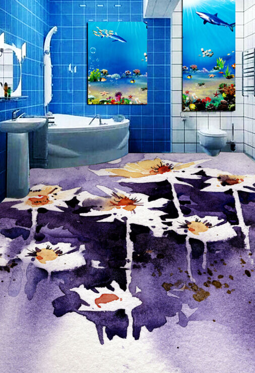 3D Flower Painting 564 Floor WallPaper Murals Wallpaper Mural Print AJ AU Lemon