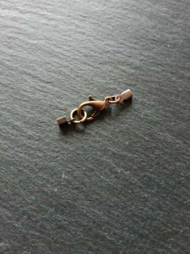 8 Sets Antique Cuivre Pliable Sertir Bouts pour 1 mm à 2 mm Cordon Avec 12 mm Fermoirs UK