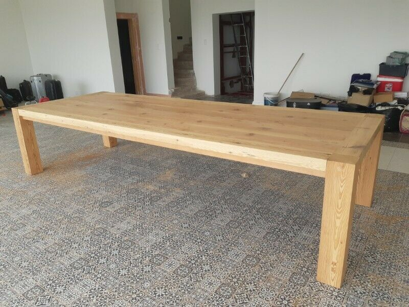 12 Seater Dining Room Table. 3m x 1m. Top 65mm thick