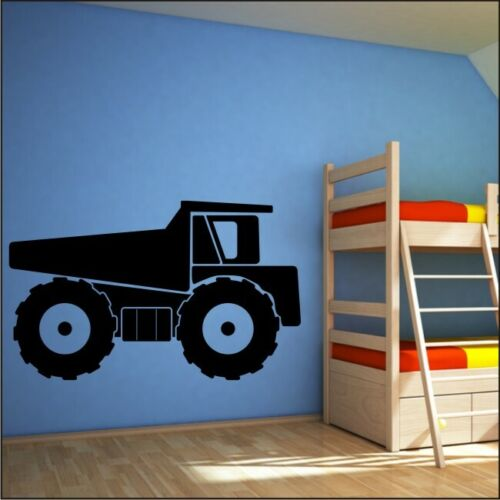 Camion benne Wall Stickers Pépinière chambre Vinyle Boys Wall Sticker Decal