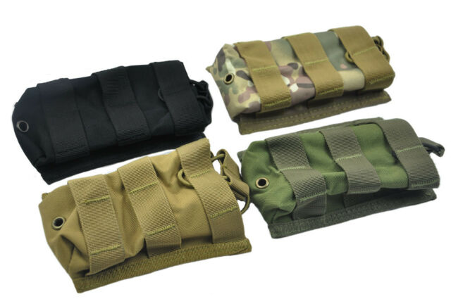 New 4 Color MOLLE Single Open Top 5.56 .223 AR Magazine Mag Pouch