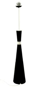 Steh-Lampe-Diabolo-Design-Boden-Leuchte-Fuss-100-cm-Holz-schwarz-Vintage-50er60er