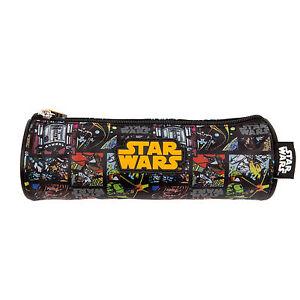 Star-Wars-Pencil-Case-Tube-Pouch-School-Boys-Black