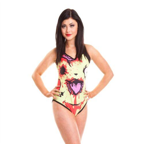 Cupcake Cult Chu Chu Costume da bagno donna giallo Gotico Emo Punk Per Ragazze Donne Costumi da bagno