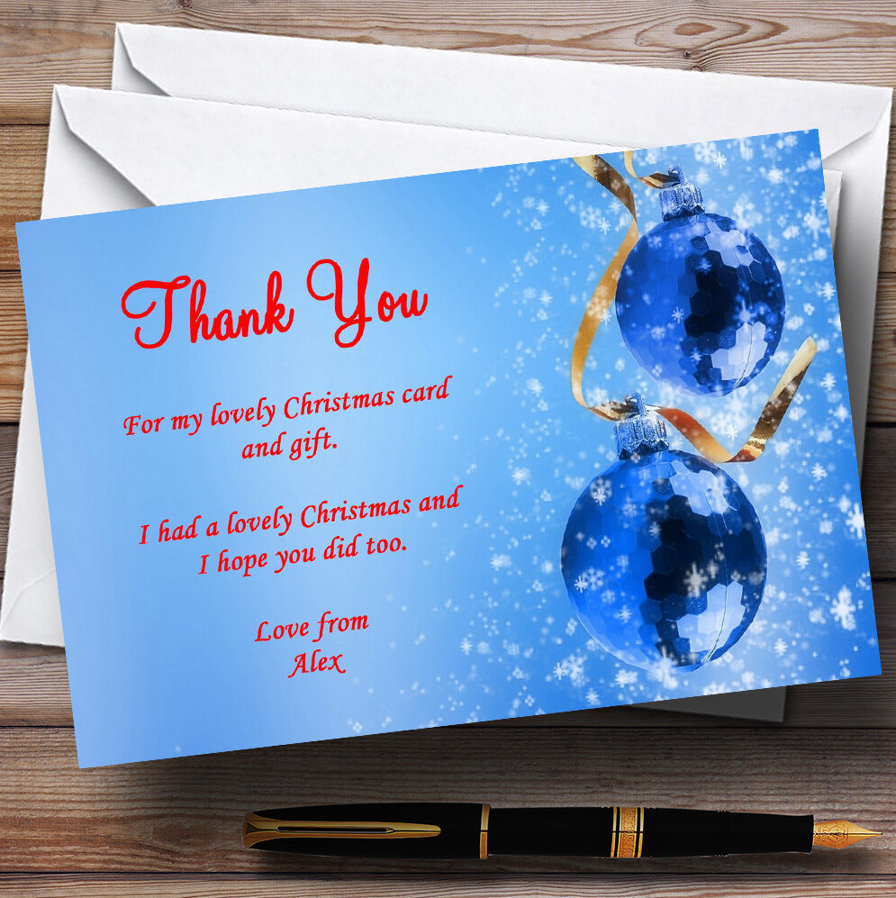 rot And Blau Personalised Christmas Party Thank You Cards