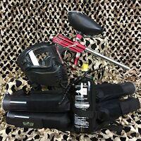 Azodin Blitz Evo Epic Paintball Marker Gun Package Kit - Red/silver