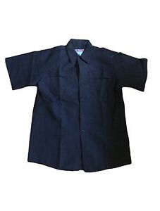 WORKWEAR Flame Resistant 100% Nomex Aramid Navy Short Sleeve Work Shirt Large