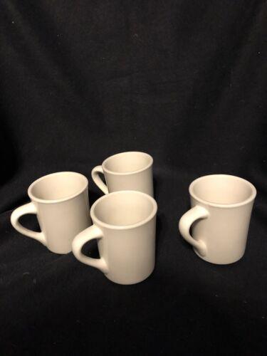 8 W Set of 4 WORLD ULTIMA CHINA Heavy Ceramic RESTAURANT DINER MUGS CUPS  TM