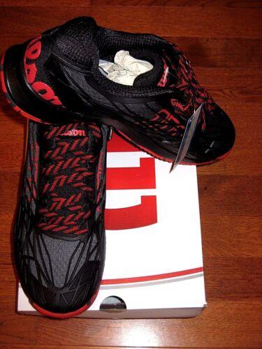 Wilson Mens KAOS Tennis Shoe Black//Red  WRS321460