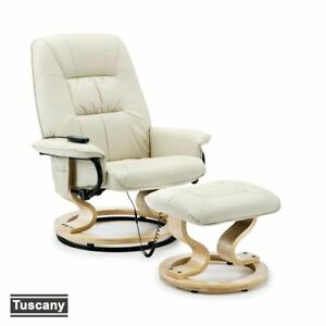 TUSCANY-REAL-LEATHER-CREAM-SWIVEL-RECLINER-MASSAGE-CHAIR-w-FOOT-STOOL-ARMCHAIR
