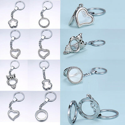2015 Round Floating Charms Locket Keychain Diy Living Memory Necklace Bracelet